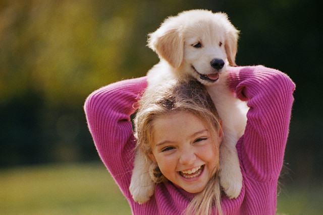 Como cachorros influenciam na vida das crianças